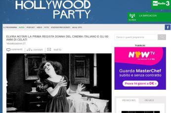 ... è stata intervistata ad Hollywood Party a Rai Radio Tre 0124169cf2c4